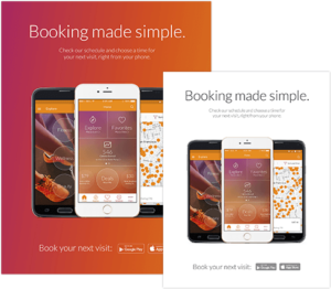 Booking Online with the MindBody app